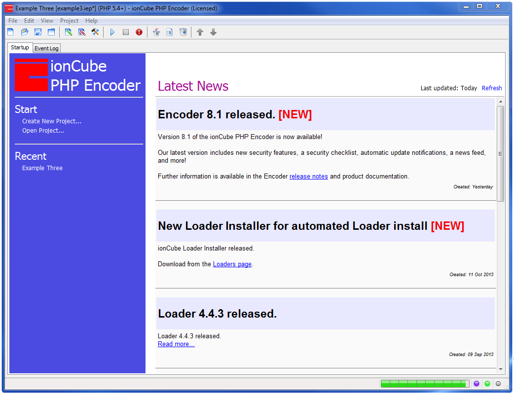php encoder gui screen