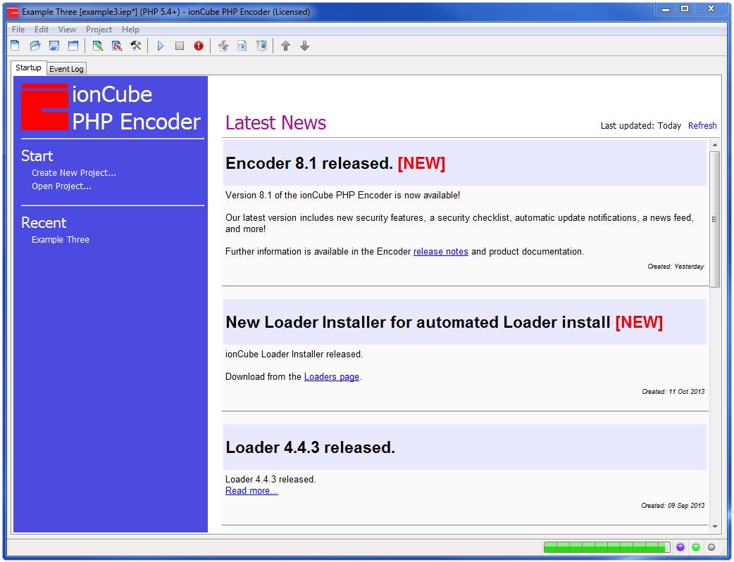 php encoder gui screen