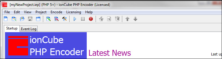 Using the ionCube Encoder GUI: Getting Started