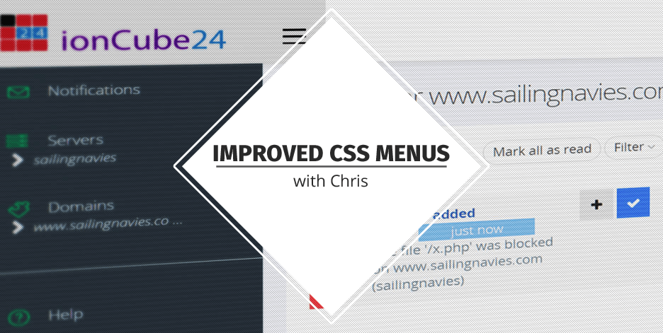 Improved CSS Menus with Chris - ionCube Blog