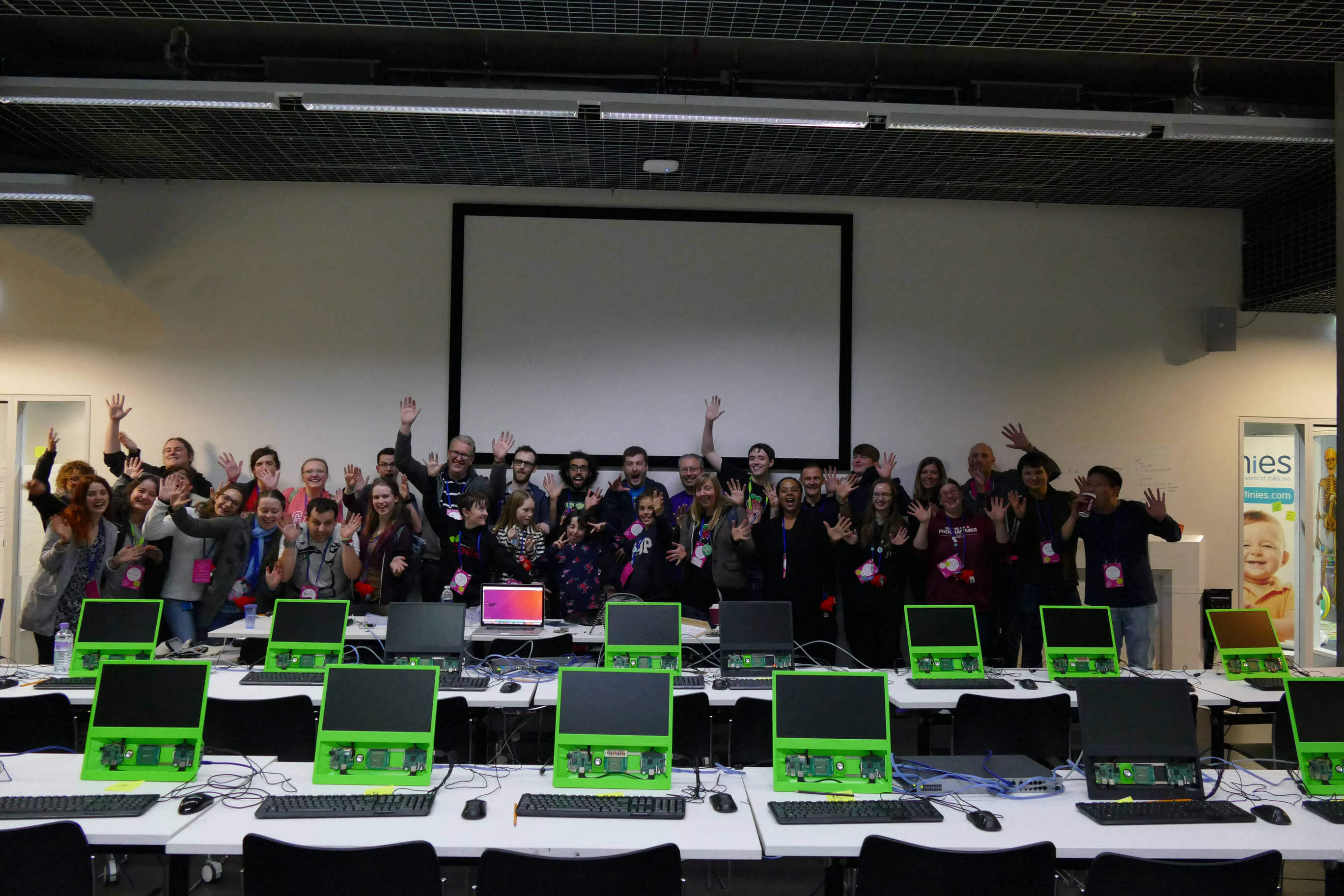 The session leaders and helpers of the Youth Zone at MozFest 2016