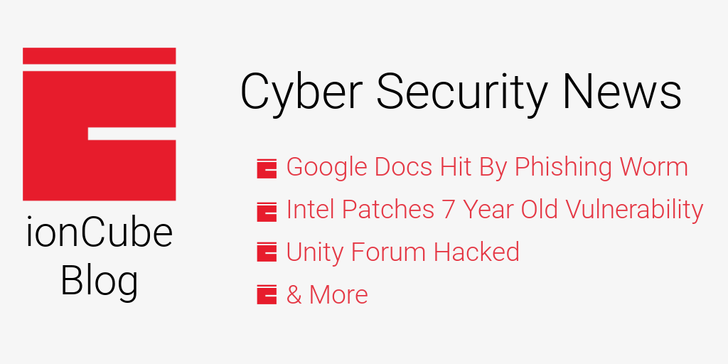 Google docs phishing attack unity forums hack intel patches 7 year old vulnerability