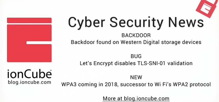 Weekly Cyber Security News 12/01/2018
