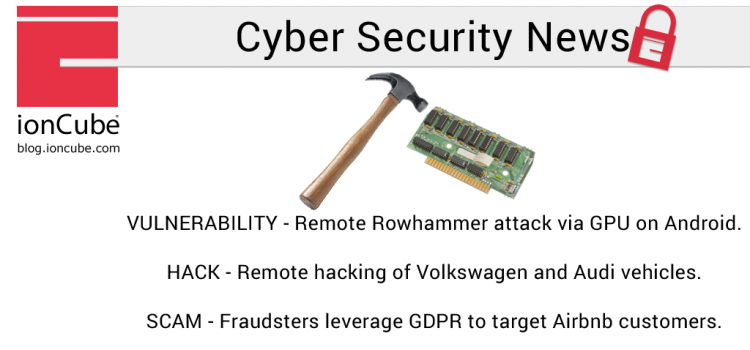 Weekly Cyber Security News 04/05/2018