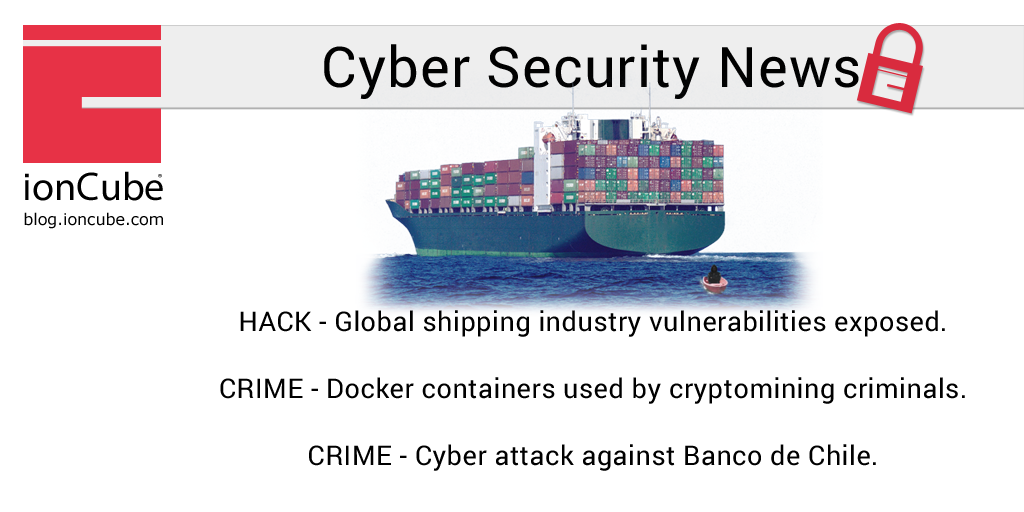 Weekly Cyber Security News 15/06/2018 - ionCube Blog