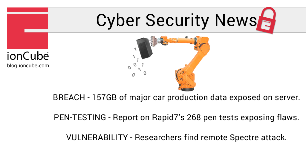 Weekly Cyber Security News 27/07/2018 - ionCube Blog