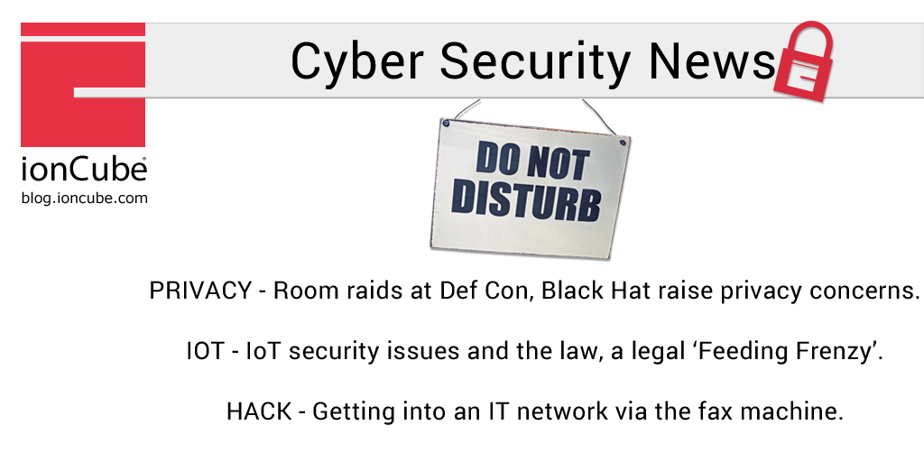 Weekly Cyber Security News 17/08/2018 - ionCube Blog